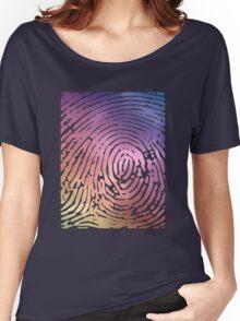 Rainbow Fingerprint. Women's Relaxed Fit T-Shirt