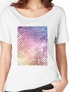 Rainbow Fingerprint. Women's Relaxed Fit T-Shirt