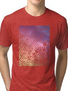 Rainbow Fingerprint. Tri-blend T-Shirt