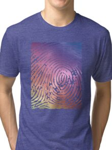 Rainbow Fingerprint. Tri-blend T-Shirt