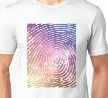 Rainbow Fingerprint. Unisex T-Shirt