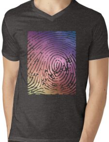 Rainbow Fingerprint. Mens V-Neck T-Shirt