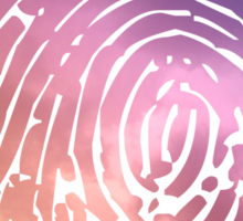 Rainbow Fingerprint. Sticker