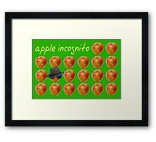 Apple Incognito Framed Print