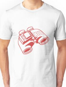 Red Binoculars Unisex T-Shirt