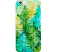 Watercolor Forest Background iPhone Case/Skin