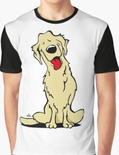 Cartoon Golden retriever dog Graphic T-Shirt
