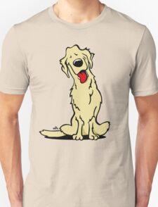 Cartoon Golden retriever dog Unisex T-Shirt