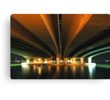 under the narrows.  perth, western australia Canvas Print