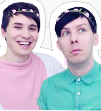 dan and phil easter  Sticker