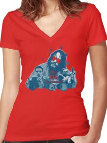 Big lebowski Collage Women's Fitted V-Neck T-Shirt