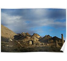 Ghost town of Rhyolite, Nevada Poster