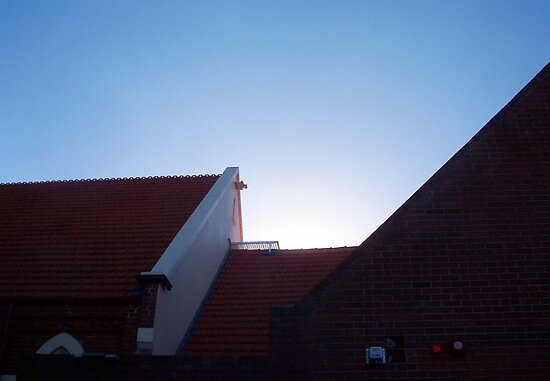 Church Roof - 23 12 12 by Robert Phillips