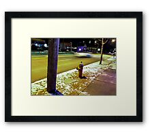 88 mph Framed Print