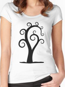 Nautilus Shell Tree Women's Fitted Scoop T-Shirt