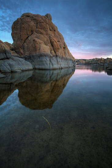 Twilight On The Rocks by Bob Larson