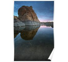 Twilight On The Rocks Poster
