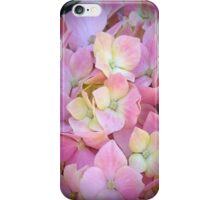 Pink And Yellow Hydrangeas iPhone Case/Skin