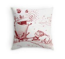 Guide my sleigh Throw Pillow