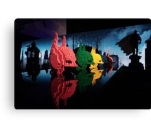 Lego Batman Heads - Gotham City Canvas Print