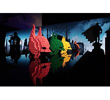 Lego Batman Heads - Gotham City Photographic Print