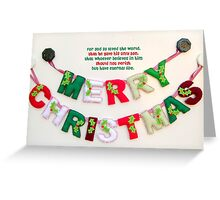 A Blessed Christmas and A Joyous New Year Greeting Card