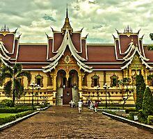Pha That Luang - Vientiane by Austin Dean