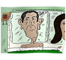 Barack OBAMA caricature après le calendrier Maya Poster