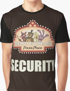 Five Nights at Freddy's - FNAF - Freddy Fazbear's Security Logo Graphic T-Shirt