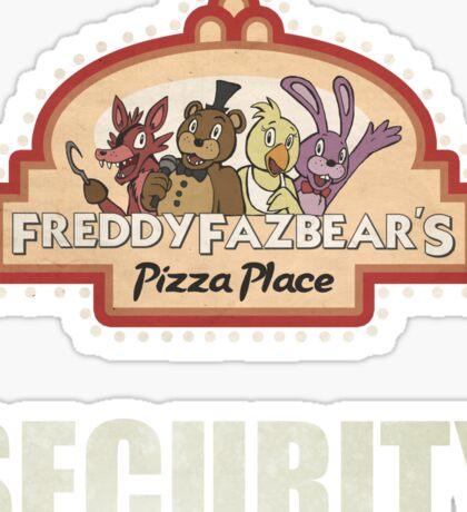 Five Nights at Freddy's - FNAF - Freddy Fazbear's Security Logo Sticker