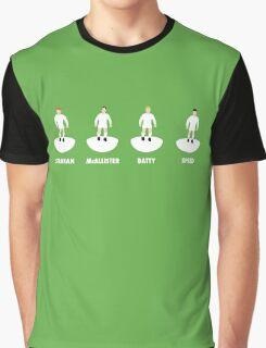 LUFC Midfield 4: Strachan, McAllister, Batty, Speed Graphic T-Shirt