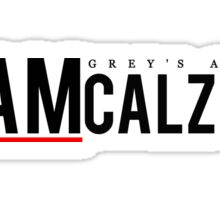 Team Calzona (black writing) Sticker