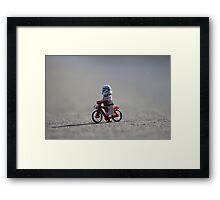 Bicycle Stormtrooper Framed Print