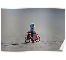 Bicycle Stormtrooper Poster