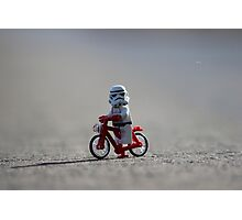 Bicycle Stormtrooper Photographic Print