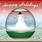 Snowman Globe by bicyclegirl