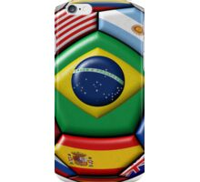 Ball with Brazilian flag in the center iPhone Case/Skin