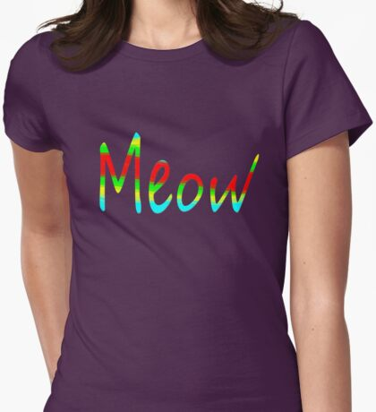 MEOW ~ Womens Fitted T-Shirt