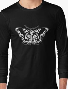 Butterfly Tattoo White Long Sleeve T-Shirt