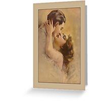 Vintage Lovers Kissing Greetings Greeting Card