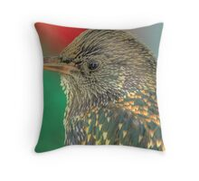 Starling Portrait  Throw Pillow