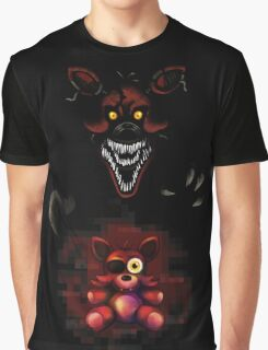 Five Nights at Freddy's - Fnaf 4 - Nightmare Foxy Plush Graphic T-Shirt