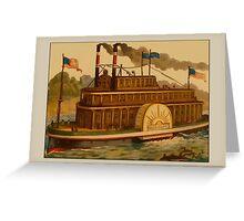 Vintage Mississippi Boat Greetings Greeting Card