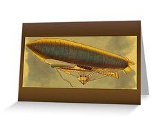 Vintage Zeppelin Greetings Greeting Card