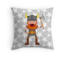 Viking Warrior Throw Pillow
