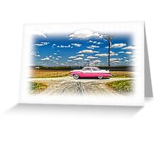 1955 FORD CROWN VICTORIA CROSSROADS IN LIFE Greeting Card