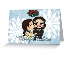 The Musketeers Christmas Card - Athos and Milady Greeting Card