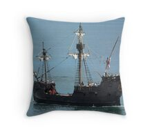 Pirate Ship Replica Throw Pillow
