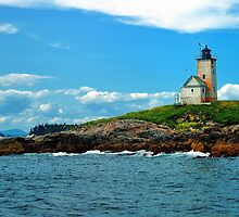 Two Bush Island Lite, Maine by fauselr