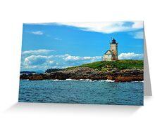 Two Bush Island Lite, Maine Greeting Card